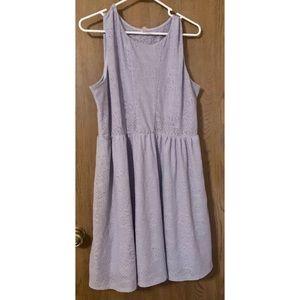 Lavender sleeveless lacy mini dress size XXL